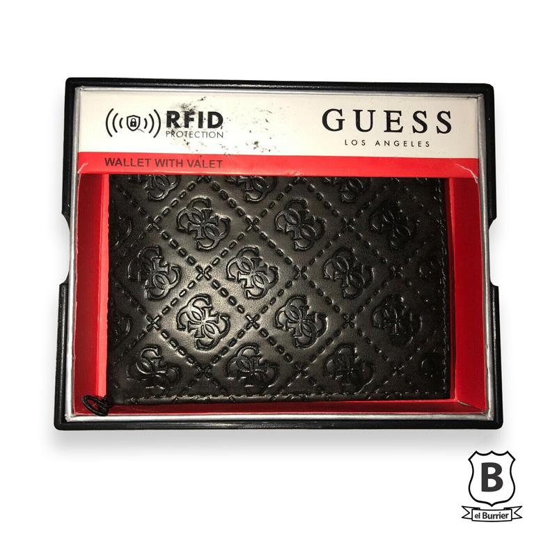 talla 40 998e6 211f8 Billetera Guess RFID Negro